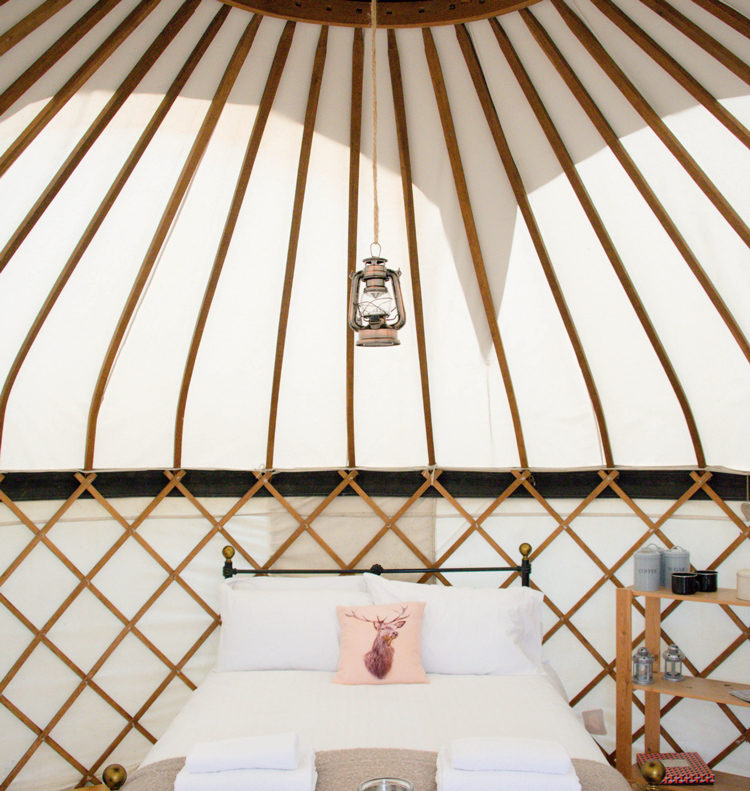Yeabridge Glamping Site, Yurts at the Hideaway